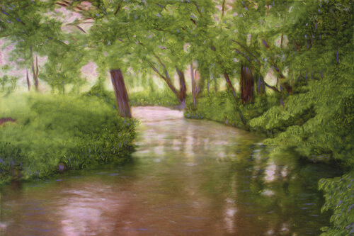 Epte near Giverny by Christopher Kufner