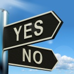 Yes or No Signpost