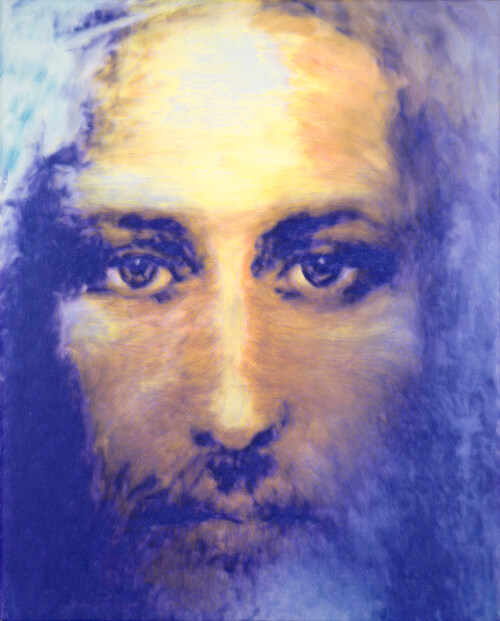 Jesus, oil on canvas, by Christopher Kufner